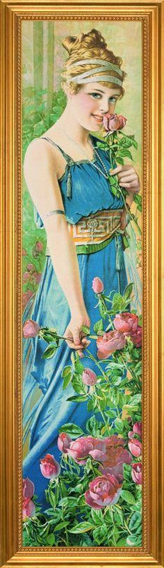 """Lady in Blue"", artist is unknown."
