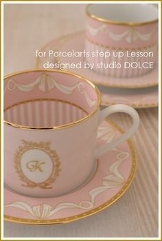 Pink and gold tea cups and saucers: Tea Party, Tea Time, Porcelain by VoyageVisuel Vintage Tea, Vintage China, Tea Cup Saucer, Tea Cups, Coffee Cups, Teapots And Cups, My Cup Of Tea, China Patterns, High Tea