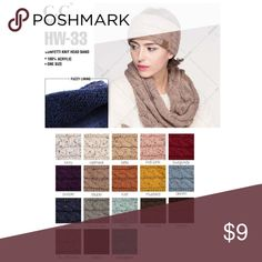 C size OS Hats at a discounted price at Poshmark. Description  C.C Cable  Knit Confetti Headwrap Acrylic. Sold by Fast delivery 72aa8f1f5e41