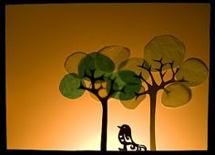 Colourful shadow puppets
