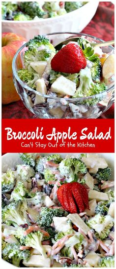 Broccoli Apple Salad | Can't Stay Out of the Kitchen | this healthy and…
