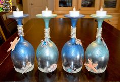 Summer and Sea Wine Glasses (Candle Holders) – The Keeper of the Cheerios