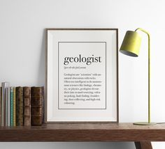 GEOLOGIST Definition Print | Funny Geology Wall Art | Art Print | Home Decor | Kitchen Wall Art | Office Art | Funny Art | Fuzzy and Birch