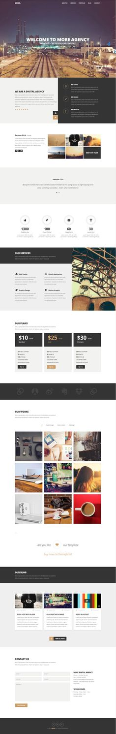 MORE - Creative One Page WordPress Theme #Wpthemes #wordpressthemes2014