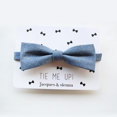 Our Jacques & Sienna designer bow tie for boys is handcrafted from soft cotton denim fabric. The bespoke bow tie is then finished with a adjustable back tie. A cool and classic style for all occasions whether for day or night! Designer Bow Ties, Boys Bow Ties, Boys Style, Denim Fabric, Boy Fashion, Bespoke, Classic Style, Boy Or Girl, Fashion Accessories