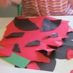 Torn paper grouchy ladybugs