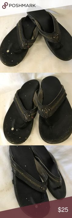 Olukai men's slipper size 9M Has some used with some white paints drop noted overall still has more life left. OluKai Shoes Sandals & Flip-Flops