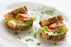 Egg and Salmon Sandwich  http://www.looplane.com/cuisine/breakfast/easy-and-quick-healthy-breakfast-recipes/