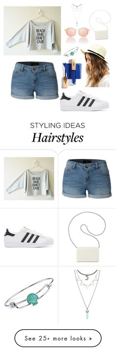 """""""beach/morning hair I don't care"""" by chloeecollins on Polyvore featuring LE3NO, adidas Originals, Lulu*s, Disney and Nine West"""