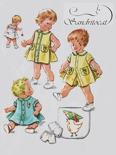 1950s Toddlers Cutest Dress with Inverted Pleat and Panties/Shorts McCalls 2282 Vintage 50s Sewing Pattern Size 1 Breast 20 UNCUT by sandritocat on Etsy