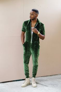 DIY: MEN'S VELVET JUMPSUIT – Norris Danta Ford