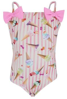 Kickle Ice Cream And Bow One-Piece