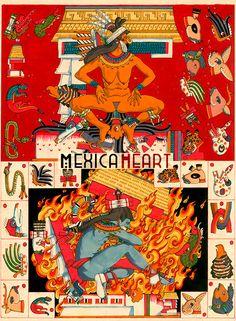 Almanaque de Xochiquetzal fina lámina por MexicaHeart en Etsy
