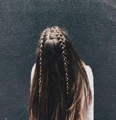 Hairstyles For School, Cute Hairstyles, Braided Hairstyles, Braid Half Up Half Down, Braided Half Up, Cabello Hair, Hair Scissors, Hair Looks, Hair Lengths