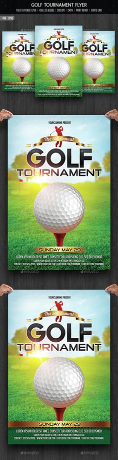 Golf Tournament Flyer Poster Magazine Template Add image, Color - golf tournament flyer template