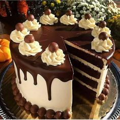 """""""A Devils' Food Cake is perfect to serve for Halloween from Shall we all dig in at once? ✔️Tag your photos with and Chocolate Butter Cake, Chocolate Cake Designs, Chocolate Desserts, Chocolate Lovers, Cake Decorating Designs, Creative Cake Decorating, Creative Cakes, Bolo Drip Cake, Drip Cakes"""