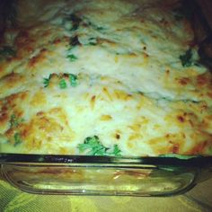 Ground Turkey & Spinach Casserole...one of our new favorites! I used fresh spinach (stems cut off) 1/2 the cheese and served it over angel hair pasta..loved it!