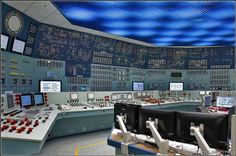 nuclear plant control room