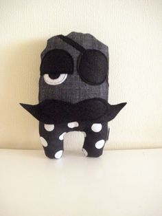 20 off   Pirate Louis black with White Spots by cronopia6 on Etsy, $12.00