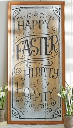 Cute 'Happy Easter' Sign