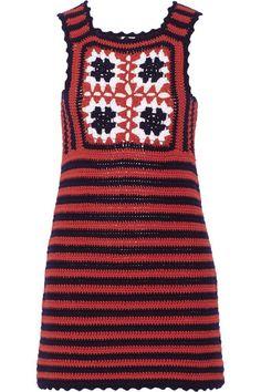 Miu MIu Crocheted cotton mini dress