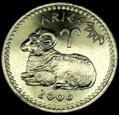 2006 SOMALILAND 10 Shilling ARIES ZODIAC COIN! UNRECOGNIZED STATE