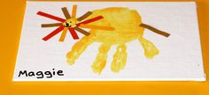 "Handprint ""Lion""---Perfect for jungle themed activities for little ones!"