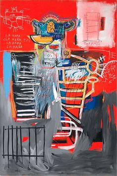 Jean-Michel Basquiat (1960-1988), La Hara, 1981. Acrylic and oilstick on wood panel. 72 x 47¾ in (182.9 x 121.3). Estimate $22-28 million. This lot is offered in Post-War and Contemporary Art Evening Sale on 17 May 2017, at Christie's in New York
