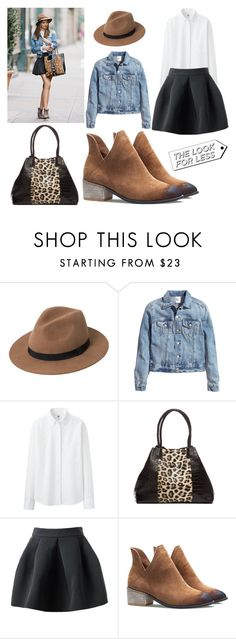 """Look For Less - Denim #5"" by leiastyle on Polyvore featuring MANGO, H&M, Uniqlo and Del Mano"