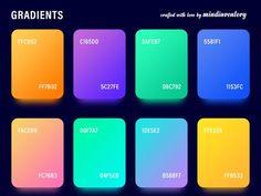 Gradient Palettes (Freebies) by Manoj Rajput