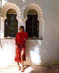 """6,065 mentions J'aime, 76 commentaires - SOFIA EL ARABI (@sofiaelarabii) sur Instagram : """"Chasing Sunsets ...#bakchicontour #marrakech #redmood"""""""