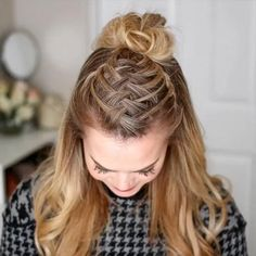 Easy Hairstyles, Girl Hairstyles, Hairstyle Ideas, Hairstyle Tutorials, Braided Hairstyles For Long Hair, Workout Hairstyles, Updo Hairstyle, Quick School Hairstyles, Braided Hair Tutorials