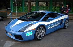 Police cars in Italy run the full spectrum, from the rare and exotic Lamborghini... (Flickr Creative Commons photo)