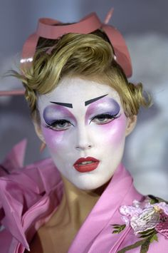Dior Paris SS07 Haute Couture. Incredible make up on Anja Rubik.