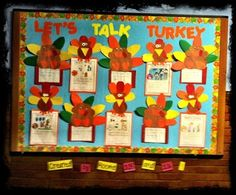 """""""Let's Talk Turkey"""" is a fun idea for a Thanksgiving creative writing assignment.  I love the different turkey projects that students designed for their writing assignments."""