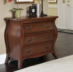 Home Styles Regency Cherry Bombe Chest-Furniture-Home and Patio Decor Center Dresser Furniture, Dresser As Nightstand, Furniture Sale, Bedroom Furniture, Dressers, Furniture Decor, Furniture Design, My Living Room, Home And Living