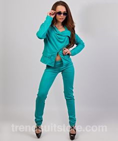 #zip #suit Stylish womens zip up suit