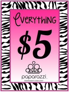 Paparazzi Jewelry business cards | All Paparazzi Accessories are just $5.00 each!!