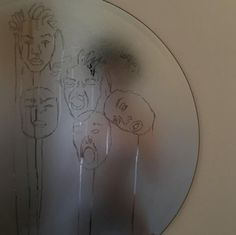 """I think this is someone making faces in a fogged up mirror and """"drawing"""" them in the condensation Kunst I think this is someone making faces in a fogg. Aesthetic Photo, Aesthetic Art, Aesthetic Pictures, Aesthetic Drawings, Shotting Photo, Art Hoe, Oeuvre D'art, Wall Collage, Artsy Fartsy"""