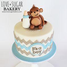 It's a Boy Mod Monkey Cake