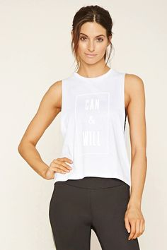Active Can Graphic Muscle Tee #f21active