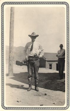 Western lawman, late 1800's or early 1900's