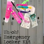 We've all been there: You're running late for school, roll out of bed and have no time to even think about getting presentable.  Never fear! We've got the ultimate list of products you need this year for an emergency locker stash.  A quick swipe of this, a dash of that, and you're ready to hit first period!