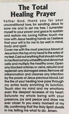 Prayers for healing Healing Scriptures, Prayers For Healing, Prayer Scriptures, Bible Prayers, Faith Prayer, Catholic Prayers, God Prayer, Power Of Prayer, Prayer Quotes