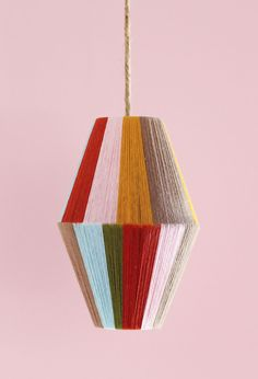 Because who cares if it's getting dark earlier when you have this adorable (and easy-to-make) pendant lamp around?