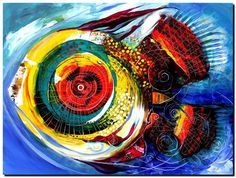 Abstract Chroma Fish  Modern Abstract Fish Art Artwork Paintings J Vincent…