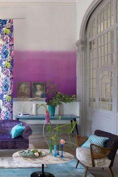 Saraille Wallpaper - Crocus,  1 Roll = 4 x matching panels P600