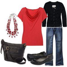 Black & Red, created by kjoirishlastname.polyvore.com