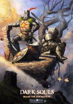 Dark Souls Fan Art- praise the Sun edition by MicheleGiorgi
