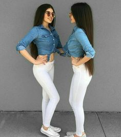 Twin Outfits, Matching Outfits, Trendy Outfits, Summer Outfits, Cute Outfits, Tumbrl Girls, Teen Fashion, Fashion Outfits, Superenge Jeans